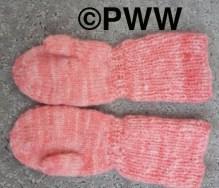 Linda's knit mittens