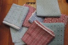 Linda's Overshot Tea Towels