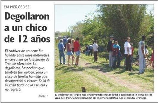 Publicación de El Litoral en su edición del 9 de octubre de 2006.