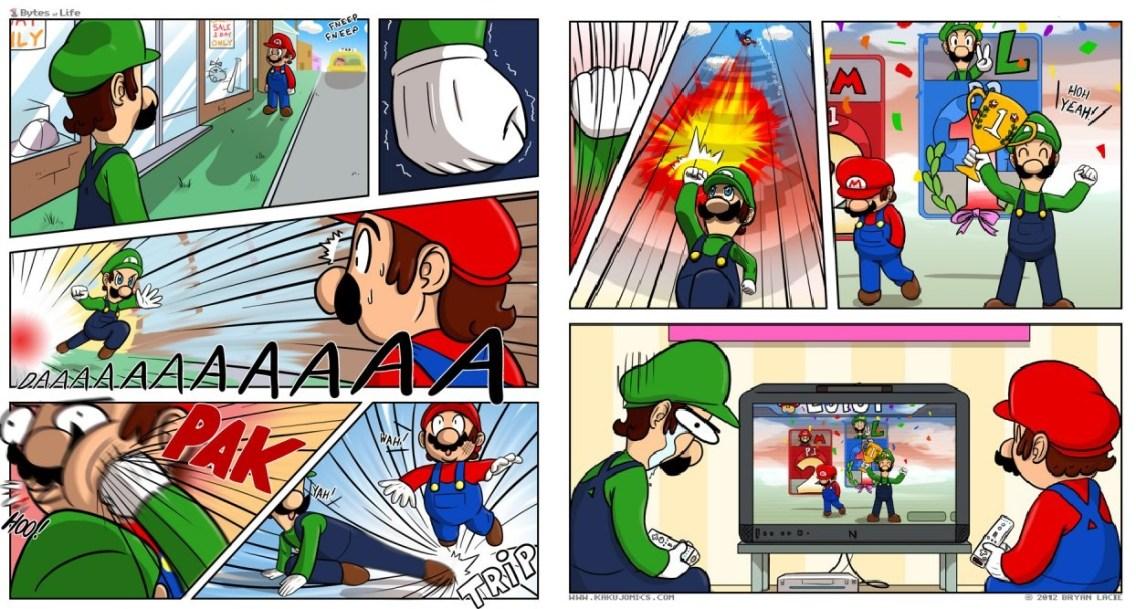 Mario et Luigi grosse branlée