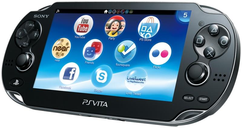 La PSVita première version, dépourvue de mémoire interne mais disposant d'un écran de meilleure qualité