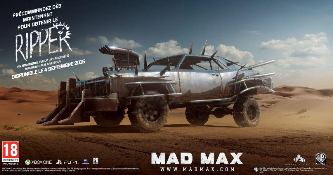 Mad Max Bonus de précommande