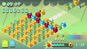 Un niveau classique où il faut éliminer un nombre précis de blocs en un temps limité
