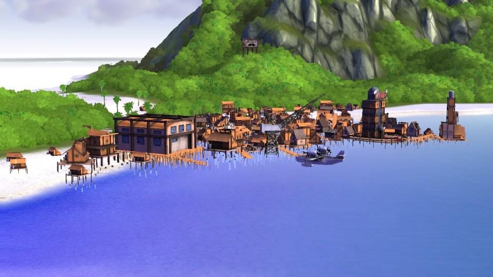 Notre île avec notre QG à un petit air de Monkey Island jusque dans son thème musical