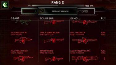 Plus de 20 armes à débloquer pour vos soldats!