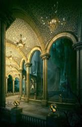 fantasy castle palace landscapes magical interior myst moutains meng landscape cai places room inside castles ni pxleyes walkway epictetus 3d