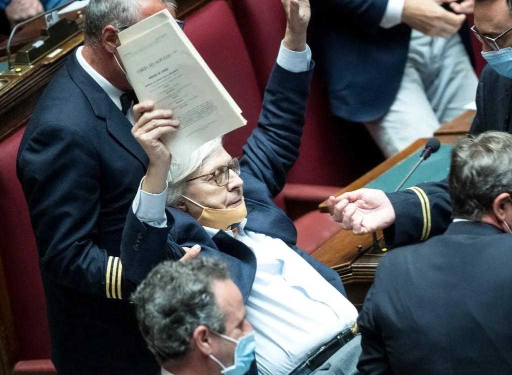 Vittorio Sgarbi preso di forza dagli assistenti parlamentari