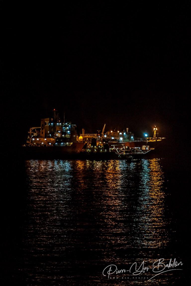 Illumination d'un cargo