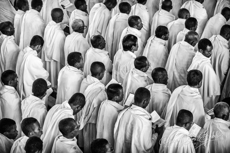 Dans l'église des bergers blancs de Soatanana, Madagascar