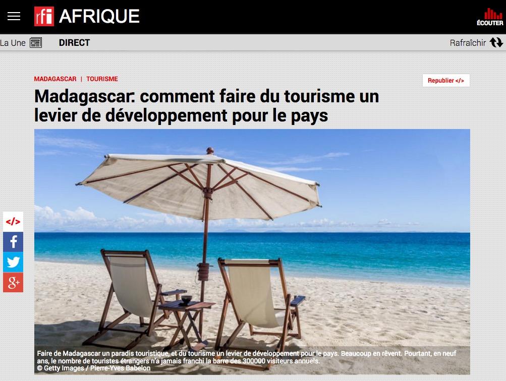 Article RFI afrique tourisme à madagascar, photo Pierre-Yves Babelon
