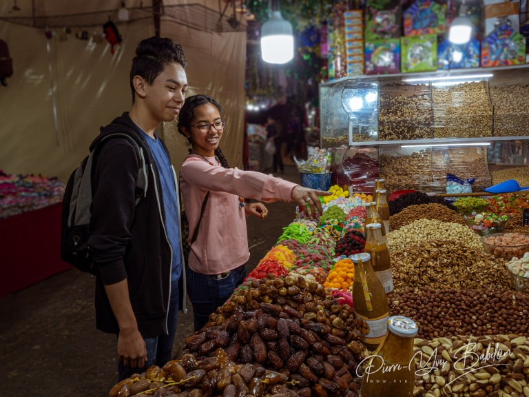 Young couple at the Tangier souk, Morocco