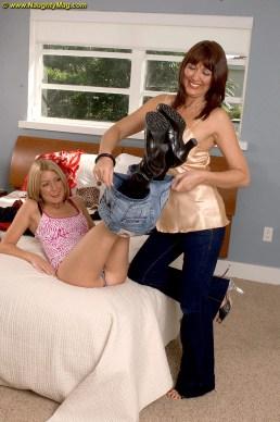 Desi & Elli Foxx mom and daughter porn incest