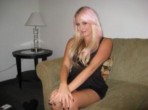 Brandi C pink hair
