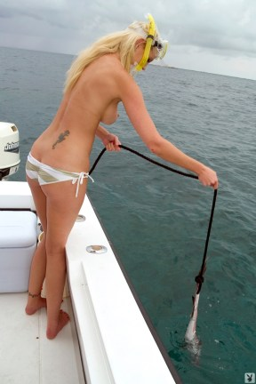 Megan Hauserman nude bikini boatride