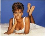 Whitney Houston feet soles pose