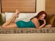 Jayden_Cole_Green_Negligee_feet soles pose