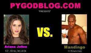 Ariana Jollee vs Mandingo 11.75 inch cock
