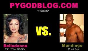 Belladonna vs Mandingo 11.75 inch cock