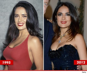 Salma Hayek genes timeless beauty