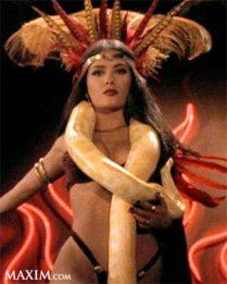 Salma Hayek snake erotic dance