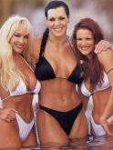 wwe wrestling divas Debra McMichaels - Chyna - Lita
