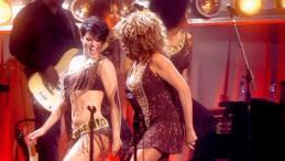 Clare Turton Tina Turner dancer black short hair