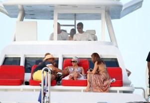 Exclusive - Jennifer Lopez Celebrates Her Birthday on a Yacht