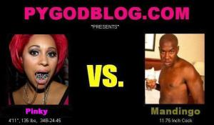 Pinky vs Mandingo 11.75 inch cock