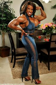 Yvette Bova female bodybuilder porn star l