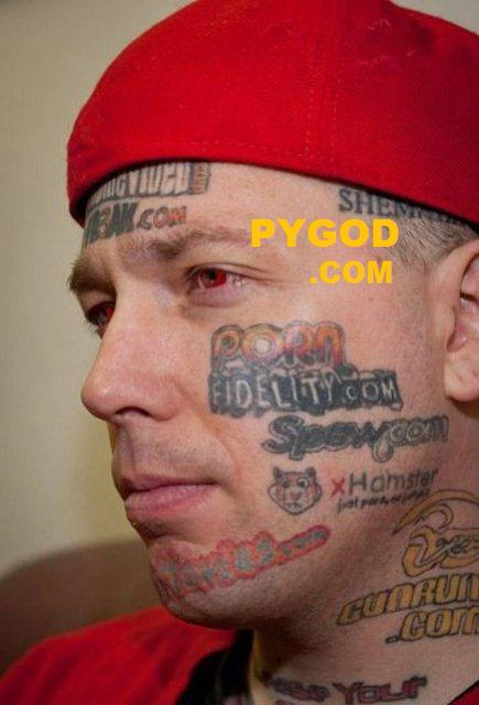 tattooed porn websites on his face side PYGOD DotCOM
