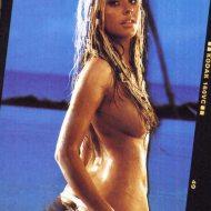Christina Aguilera butt crack topless