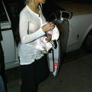 Christina Aguilera without a bra