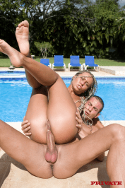 Sandra in Anal Tropical Honeymoon poolside fuck 12