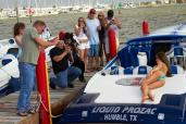 Brooke Tessmacher feet boat