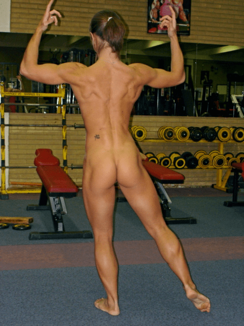 Nude weightlifting women