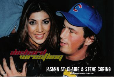 Jasmin St.Claire Steve Corimo pro wrestling