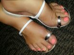 Coco Austin toe ring sandals