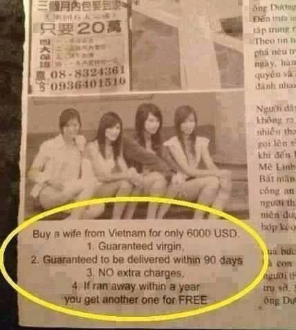 Buy an Asian wife