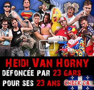Heidi Van Horny gangbang 23 gars