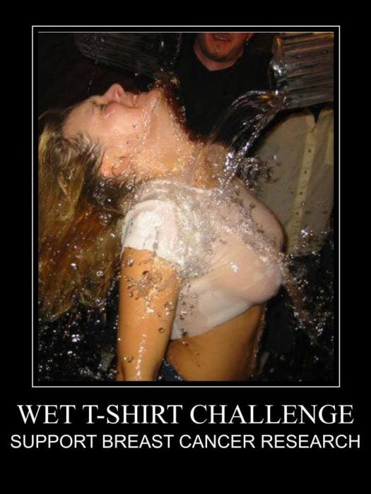 Wet T-shirt Challenge support breast cancer research
