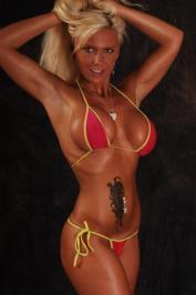 Sharon Da Vale German tan bikini blonde