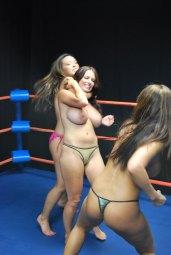 Goldie Blair bondage BDSM model big tits wrestling