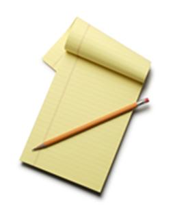 keep record the good old fashion way pad n pencil