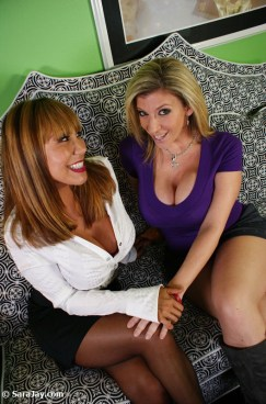 Ava Devine and Sara Jay duo