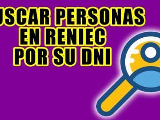 Buscador por Reniec