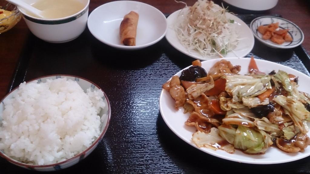 華縁八宝菜定食