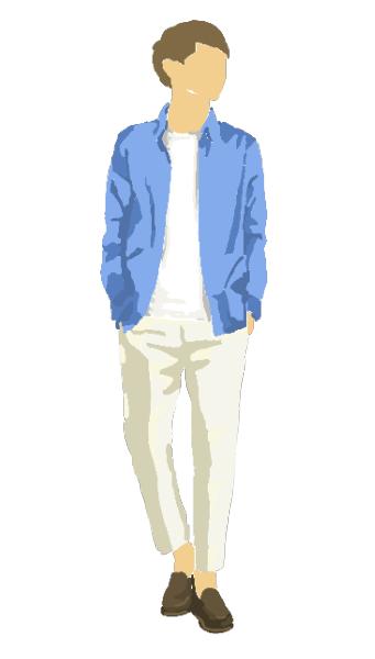 手描き風男性ファッションのイラスト素材