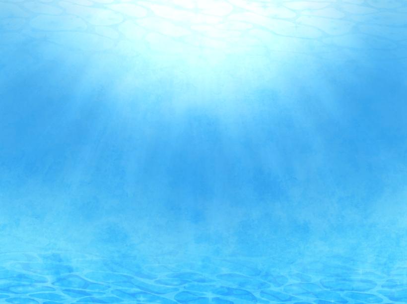 光が射し込む水中の背景イラスト(水中、海、海底)