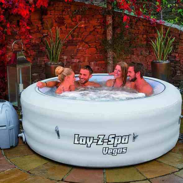 The Lay-Z-Spa Vegas Hot Tub is probably the one of the best 4-6 person hot tub out of all the brands available and certainly one of the most affordable currently available right now, We did notice that you can now buy this model with 'ChemConnect' which fastens to the inside of the hot tub and keeps the water even cleaner and clearer, however, the cost is much more expensive so whether its worth the extra cost were not sure.