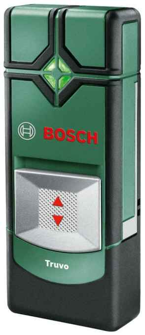 The Bosch Truvo Digital Multi-Detector is a unique one. It solely relies on sound and a LED traffic light system to locate any metals or live wiring in the wall.  It has a lower running time compared to the rest but it is usable. It can be used in houses where piping may be hard to find, this would come in handy when drilling into tiles.